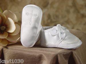 Baby Boys Christening Baptism Shoes w Celtic Cross