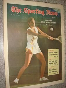 March 11 1972 The Sporting News Tennis star Chris Evert on cover