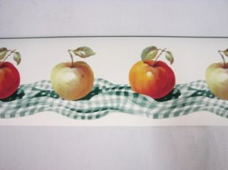 Lot of 4 Apple Fruit Wallpaper Borders Prepasted New