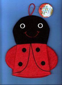 LADYBUG Lady Bug Baby Bath Puppet Toy Mitt Wash Terry Cloth Boy Girl