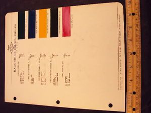 1949 1950 Mack Truck Paint Colors Chip Page Chips