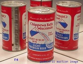 CHIPPEWA Falls Premium Light Beer 1978 2 ND Can Pure Water Days