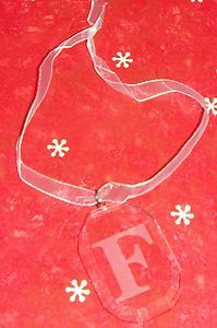 Christmas Ornament ~ Crystal F ~ Great Gift for friends, family, co