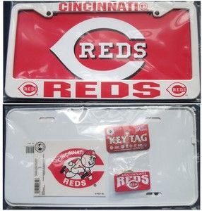 Cincinnati Reds Car Combo License Plate Frame Decal