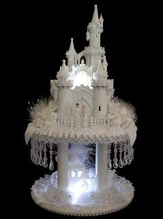 scastle magnificent lighted cinderella castle wedding cake