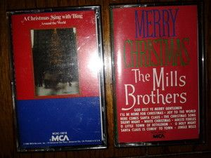 Christmas Music Cassettes A Sing With Bing The Mills Brothers Merry