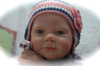life like OOAK reborn baby toddler girl Chloe by artist Kristin Faith
