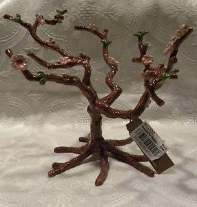 Lucky Brand Jewelry Stand Cherry Blossom Tree JLRU6603 Enameled Metal
