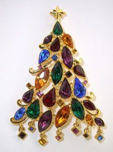 New Christopher Radko Le R s Christmas Tree Pin Pendant