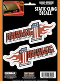 chroma graphics harley davidson static cling eagle with bar and shield