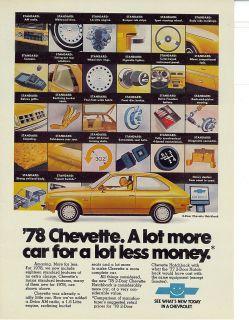 1978 Chevrolet Chevette Vintage Chevy Print Ad