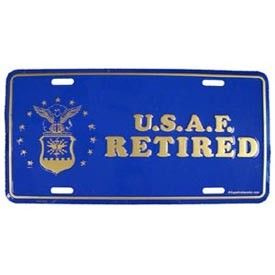 USAF Air Force Retired Military Auto Tag License Plate