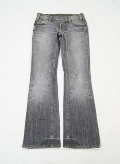 Citizens of Humanity Gray Skull and Bunny Boot Cut Stretch Jeans Size