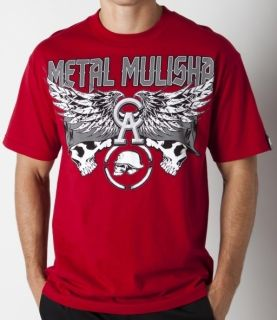 Metal Mulisha Chris Ackerman Race Motocross Moto x Shirt Red Size L