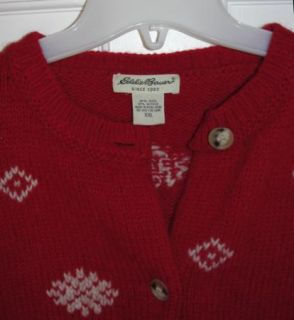 Eddie Bauer Snowflake Nordic Ugly Christmas Sweater XXL 2XL Wool