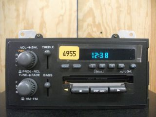 Chevy s 10 Sonoma Blazer Jimmy Factory Cassette Player Radio 95 96 97