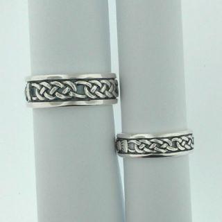 Sterling Silver Celtic Claddagh Wedding Ring Irish 10
