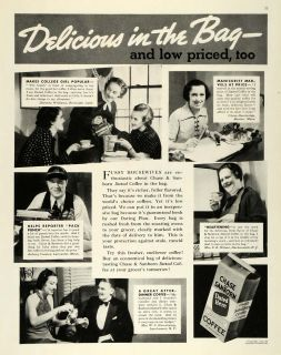 1937 Ad Chase Danborn Dated Coffee Claire Hanbridge Original