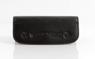 New Chrome Hearts Sunglasses Black Leather Padded Case with Cloth