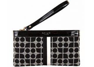 Kate Spade Classic Noel Black Zippered Chrissy Wristlet Clutch Wallet