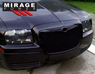 Chrysler 300 300C Black Front Bumper Grill 300 Emblem