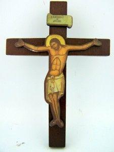 Wooden Cimabue Wood Hanging Wall Cross Catholic Crucifix Gift
