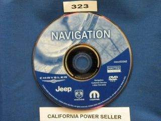 2008 Mopar Dodge Caliber GPS Navigation Disk Map DVD