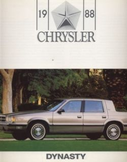 1988 Chrysler Dodge Dynasty CDN Sales Brochure Book