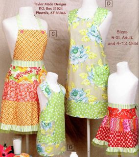 Cindy Taylor Oates Mother Daughter Apron Patterns