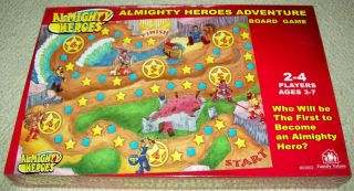 Family Values Almighty Heroes Adventure Christian Board Game Ages 3 7