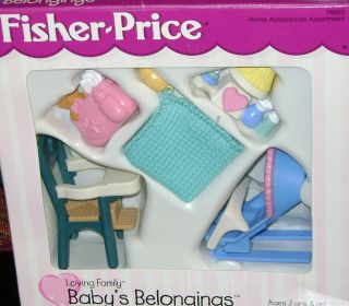 Fisher Price Loving Family BABYS BELONGINGS BRAND NEW IN BOX CLEARANCE