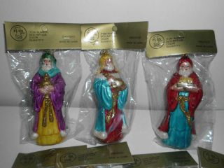 Lot of 24 Vintage Modern Wise Men Christmas Ornaments Still in Plastic