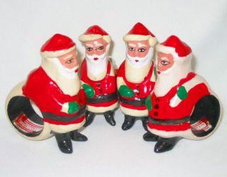 Santa Claus Christmas Napkin Rings Hand Painted