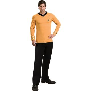 Star Trek Classic Gold Shirt Deluxe Adult Costume Star Trek TNG Kirk
