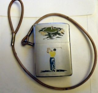Vintage Golfer Golf Zippo Cigarette Lighter