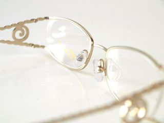 Tura Gold Silver Designer Womens Eyeglasses w Rhinestones 281