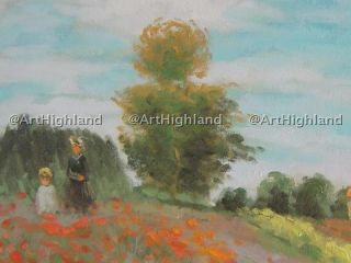 Claude Monet Vintage Oil Paintings Canvas Poppy Fields