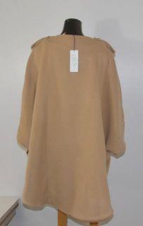 Joy Cioci Size Medium Camel Wool Claire Cape