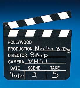 Hollywood Slate Board Movie Clapper New Wood Clapboard