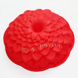 Chrysanthemum Flower Cake Bundt Pan Bread Bakeware Silicone Mold