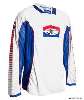 JT Racing Pro Tour Jersey   White/Blue 2012