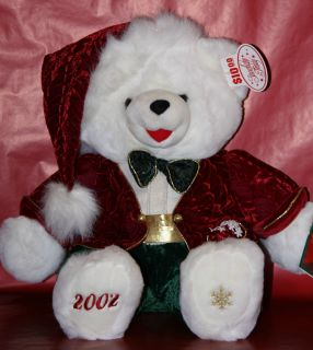 2002  Boy Snowflake Stuffed Teddy Bear