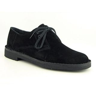 Clarks Bushacre Lo Mens Size 13 Black Regular Suede Oxfords Shoes