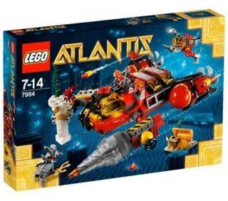 New LEGO ATLANTIS 7984 Deep Sea Raider Sub, Diver, Guardian 265 pc