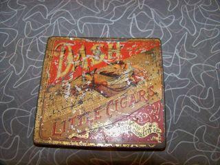 Antique Dash Little Cigar Tobacco Tin