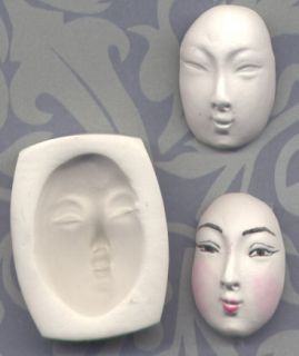 Handmade Polymer Clay Mold Chinese Lady Doll Face