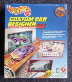 Hot Wheels Custom Car Desigmer CD Rom RARE with white VW Bus
