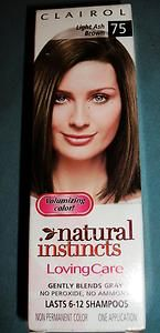 New 1 Clairol Loving Care Color 75 Light Ash Brown VHTF