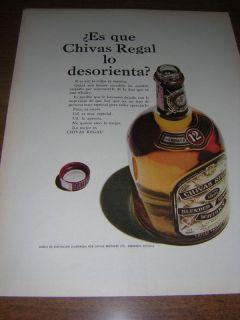 1967 Chivas Regal Muy Especial Whisky Print Spanish Ad