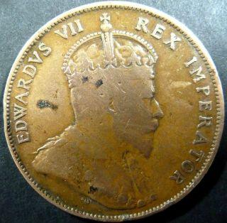 PIASTRE 1908 VF KM 12 KING EDWARD VII Greece Zypern Chypre Cipro